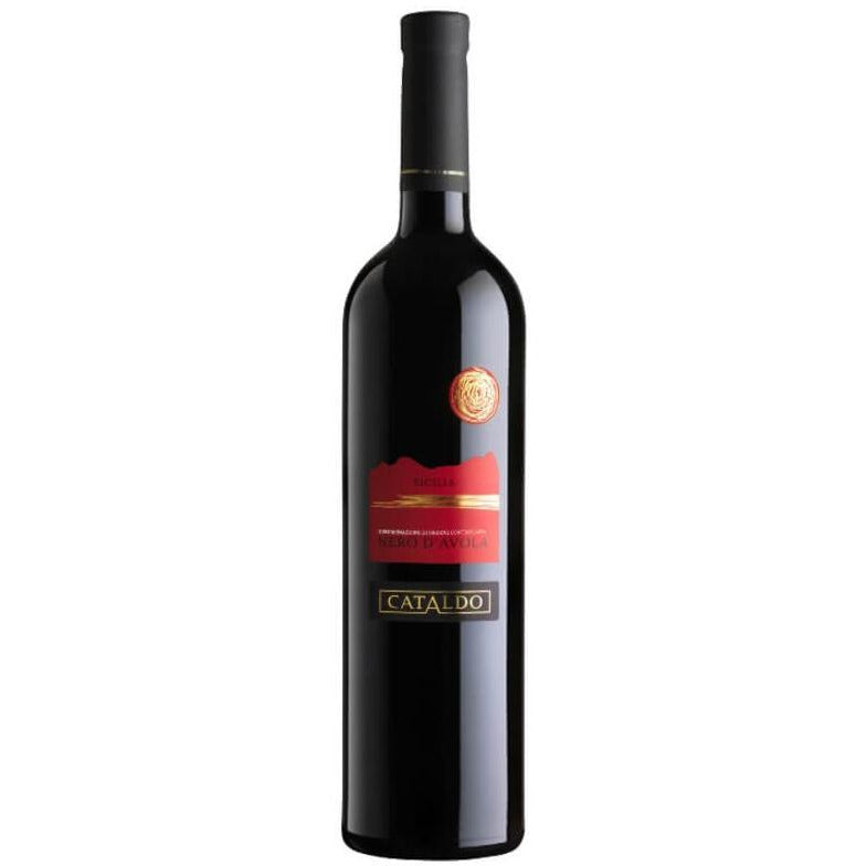 bottle of Cataldo Nero d'Avola red wine