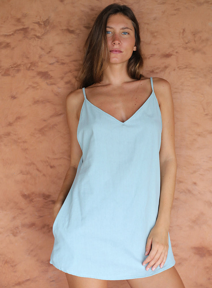 Hermosa Summer Dress in Green Mist