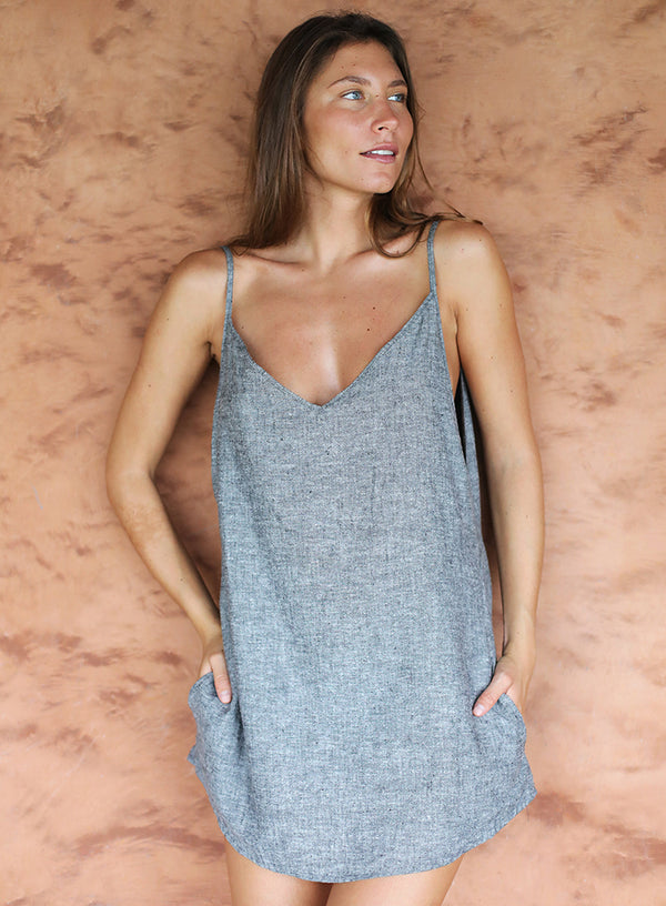 Hermosa Summer Dress in Grey