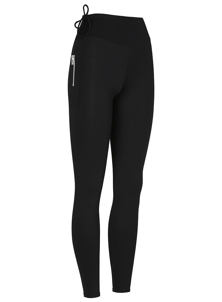 High Waisted Surf Legging Matte Black