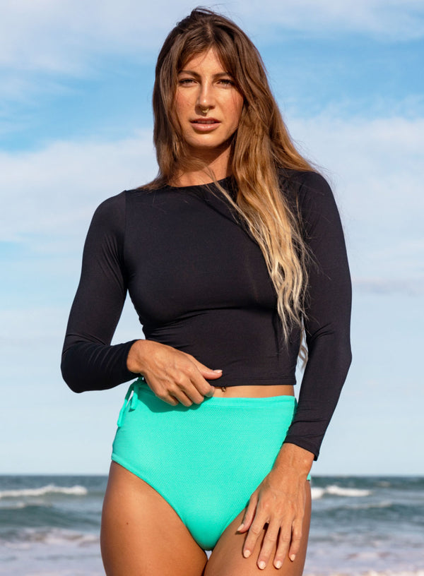 Crop Rashguard Black