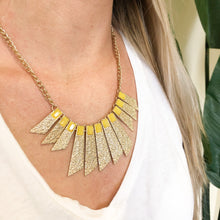 Load image into Gallery viewer, Hammered Gold Blade Necklace