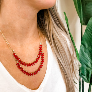 Layered Beaded Necklace 2 COLORS