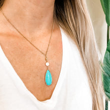 Load image into Gallery viewer, Turquoise Teardrop Necklace