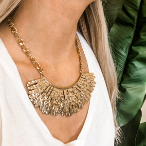 Sparrow Gold Plate Necklace