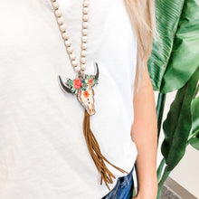 Load image into Gallery viewer, Steerhead Tassel Necklace