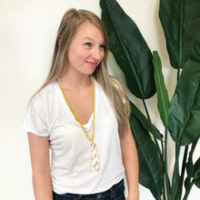 Load image into Gallery viewer, Yellow Tassel Necklace