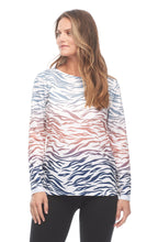 Load image into Gallery viewer, Multi Zebra Print Ballet Neck