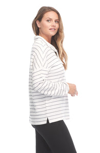 Nautical Stripe Funnel Neck