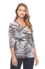 Load image into Gallery viewer, Abstract Animal Print V-Neck
