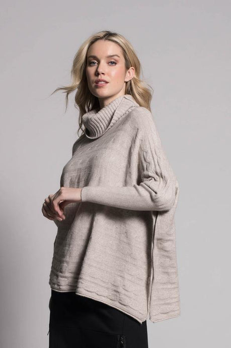 Cable Knit Pattern Sweater Top - Elegant Steps