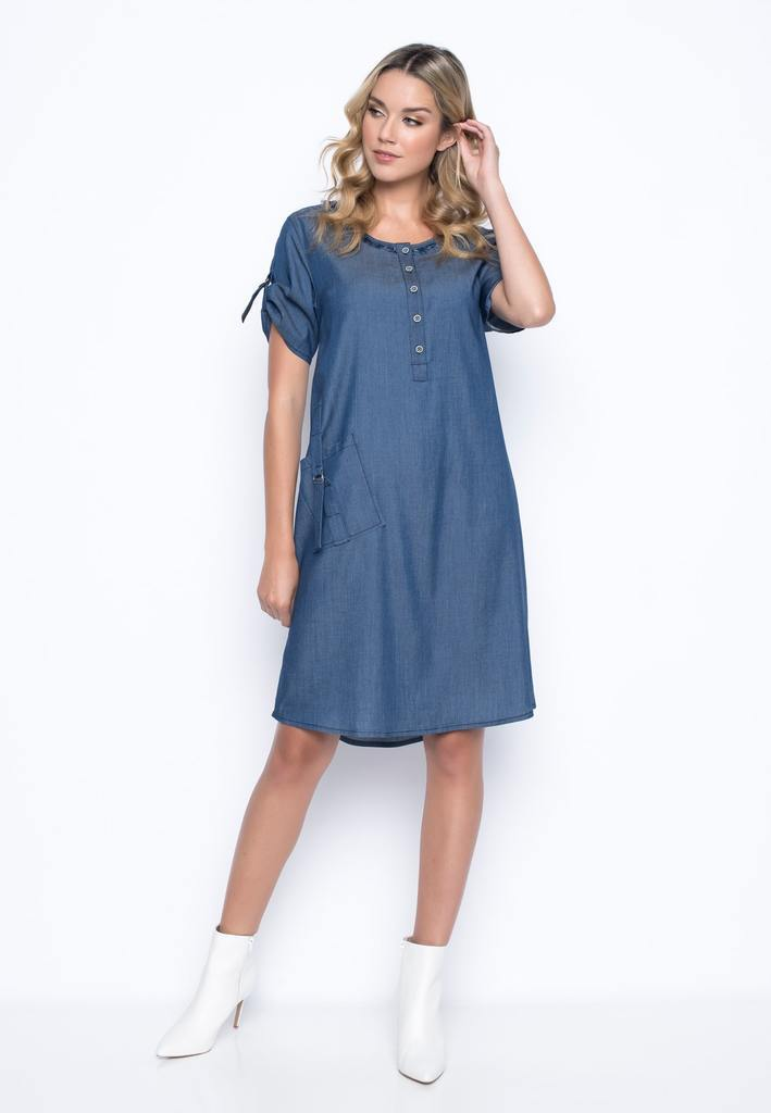 Picadilly - Short-Sleeve A-Line Dress - MM608