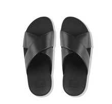 Load image into Gallery viewer, Lulu Cross Slide Sandals Leather