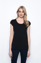 Load image into Gallery viewer, Picadilly - Scoop Neck Short Sleeve Top - 1R162