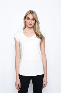 Picadilly - Scoop Neck Short Sleeve Top - 1R162