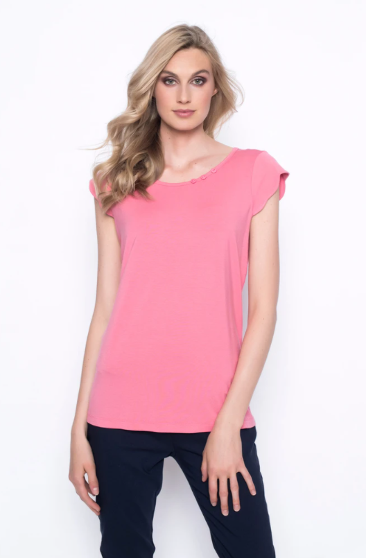 Scalloped Sleeve Top