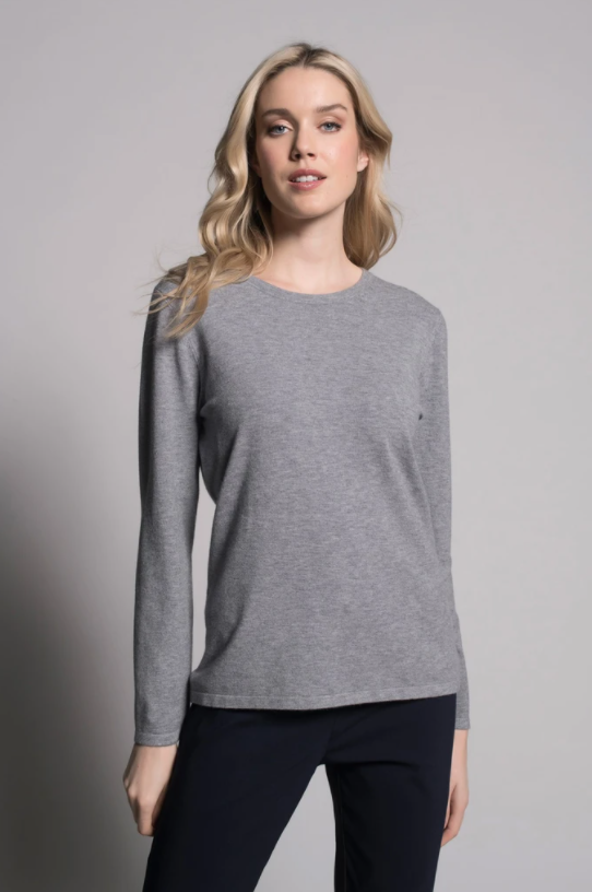 Long-Sleeve Crew Neck Top