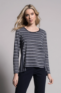 Long-Sleeve Top with Front Slits