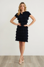 Load image into Gallery viewer, Joseph Ribkoff Tiered Ruffle Dress Style 211350