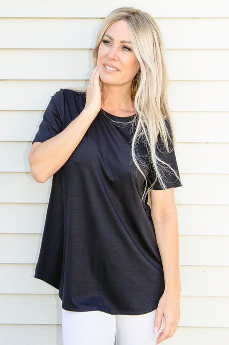 Pure - Round Neck Tee Bamboo - 210-4770 - Elegant Steps