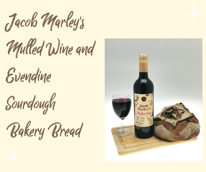 Jacob Marley Mulled Wine Sourdough Bread by Evendine Bakery