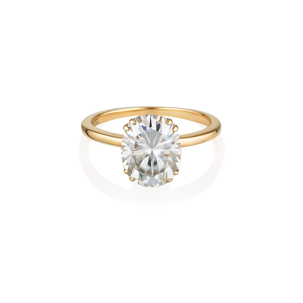 Oval Moissanite Ring | 14k Solid