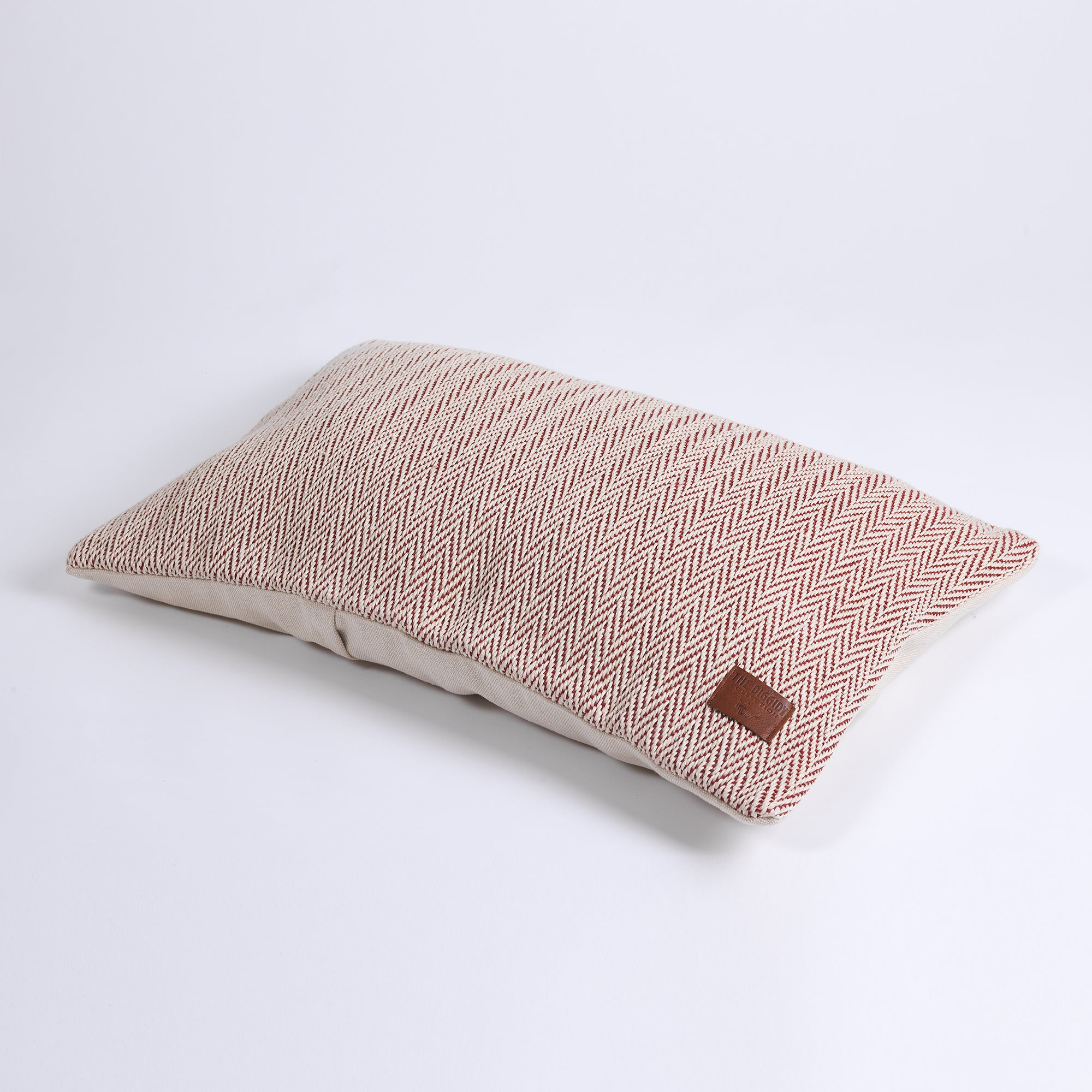 DC Herringbone Hemp Pillow Cover red