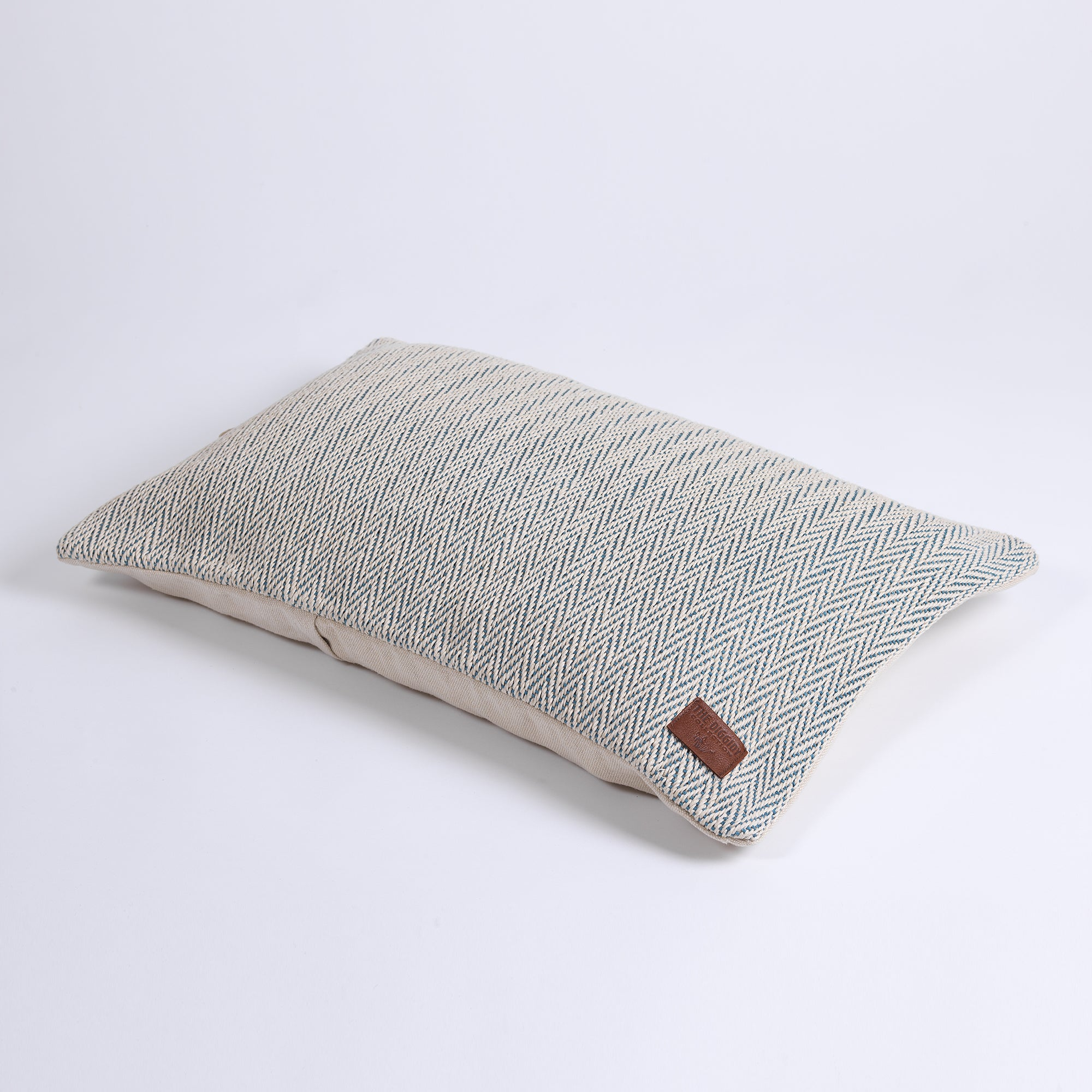 DC Herringbone Hemp Pillow Cover blue