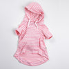 DC Pima hooded sweathshirt light pink
