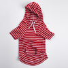 DC Pima hooded sweatshirt red
