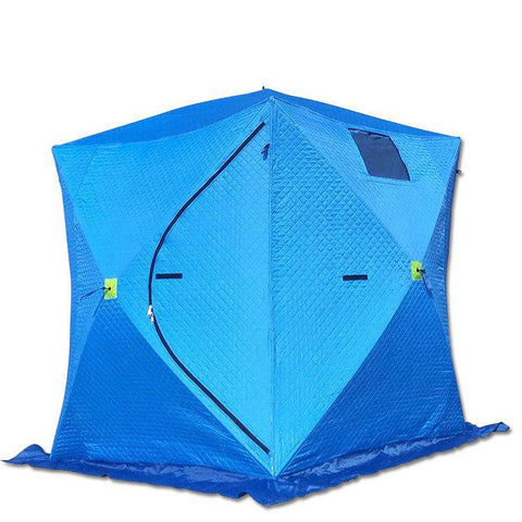 2 thick layer Winter ice Fishing Tent 210x210x210cm Automatice Quick Open Large Cotton Warm Tent for Winter