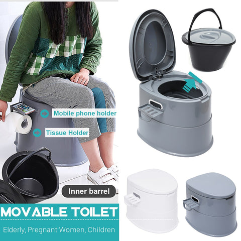 42X50X40CM Capacity Comfort Portable Toilet Mobile Toilet Travel Camping Commode Potty Outdoor/Indoor