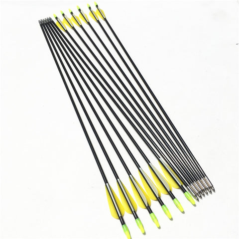6/12/24PCS Fiberglass Arrows Length 79cm Spine 700 OD 7mm For Recurve Bow Archery Hunting Shooting Outdoor