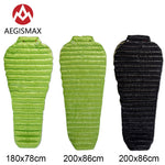 AEGISMAX MINI Outdoor Camping Ultralight White Goose Down Sleeping Bag Lazy Bag Mummy Spring Autumn Adult Bag