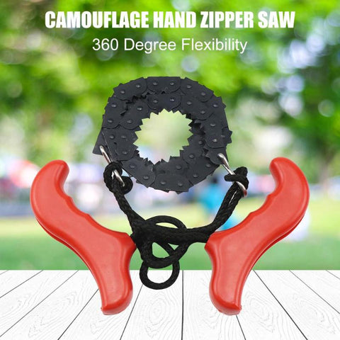 Pocket Hand Chainsaw Outdoor Survival Camping Hiking Wood Cutting Chain Saw for Gardening Survival Outdoor Camping Wood Cutting