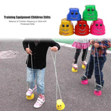 2pcs/set Stilts Toys Simple Durable Bright Colors Balance Stilts Sense Training Children Outdoor Games Thickened Jumping Fun Toy