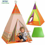 akitoo new Children tents game house indoors indian tents kids outdoor baby castle kindergarten triangle Kids Folding Tent gift