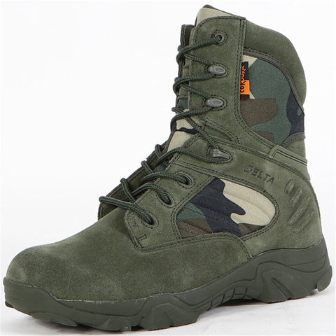 Men Winter Outdoor Camping Climbing Travel Military Hiking Special Forces Delta Combat Boots  Assault Tactical Slip Desert Shoes