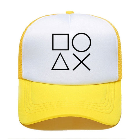 NEW Creative game Print Summer Baseball Cap Playstation Controller Women Men Unisex Parent-child Hats Mesh Visor Outdoor Sun Hat
