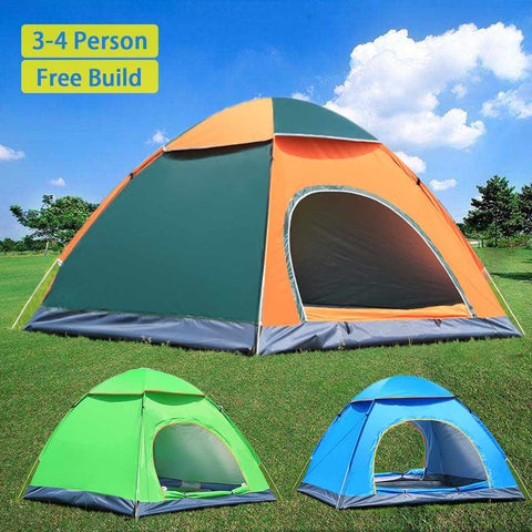 1~4 Person Automatic Pop Up Outdoor Family Camping Tent Easy Open Camp Tents Ultralight Instant Shade Portable Free Construction