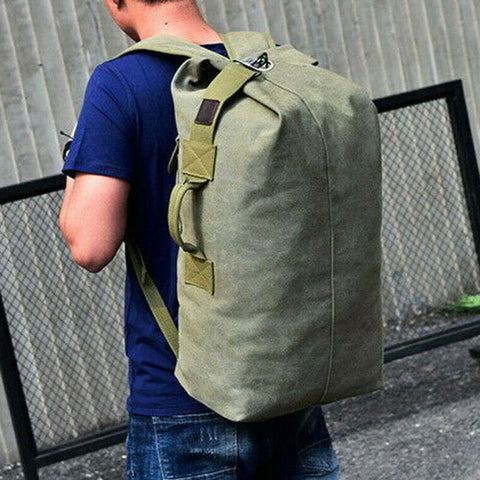 Army Bag Canvas Hiking Camping Tactical Rucksack