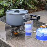 VILEAD 9 Plate Foldable Aluminum Outdoor Stove Wind Shield
