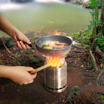 Outdoor Wood Burning  Stainless Steel  Stove