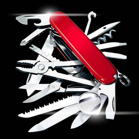 Multi-Functional Swiss 91mm Folding Knife Stainless Steel Multi Tool Army Knives Pocket Hunting Outdoor Camping Survival Knife