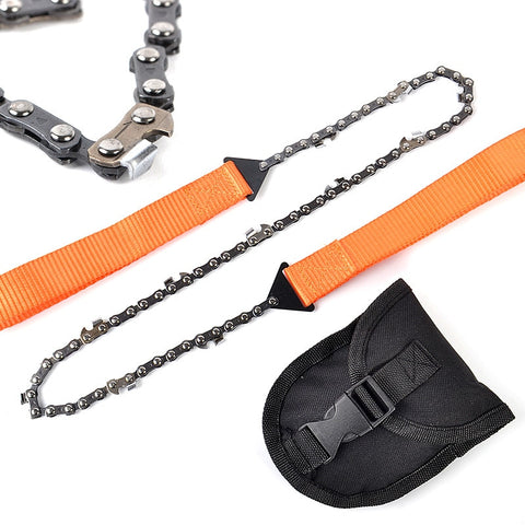 Emergency Household Garden Hand Chain Saw Outdoor Woodworking Tools Survival Pocket Chain Saw Hand Chainsaw 65cm Camping Hiking