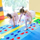 Kid Hopscotch Play Mat Carpet Baby Sport Jumping Rug Lattice Kindergarten Team Game Pad Playroom Toy Children Indoor Outdoor Toy