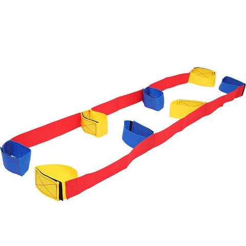 Giant Footsteps 4 Legged Race Bands Children Outdoor Sports Toys Outdoor Game for Kids Adults Teamwork Games Interactive Toys