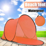 Outdoor Portable Tent UV Beach Camping Tent Pop Up Open Beach Mat Folding Automatic for 1-2 Person