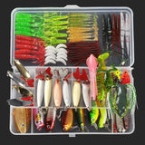 ALLBLUE Hot Fishing Lure Kit Mixed Plastic Metal Soft Lure Set Wobbler Popper Vib Minnow Jighead Spoon Artificial Bait Tackle