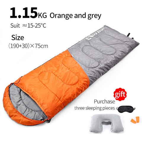 Camping Sleeping Bag Splicing Hiking Outdoor Waterproof Backpacking Thermal Portable Adult Sleeping Bags Three Seasons Lazybag